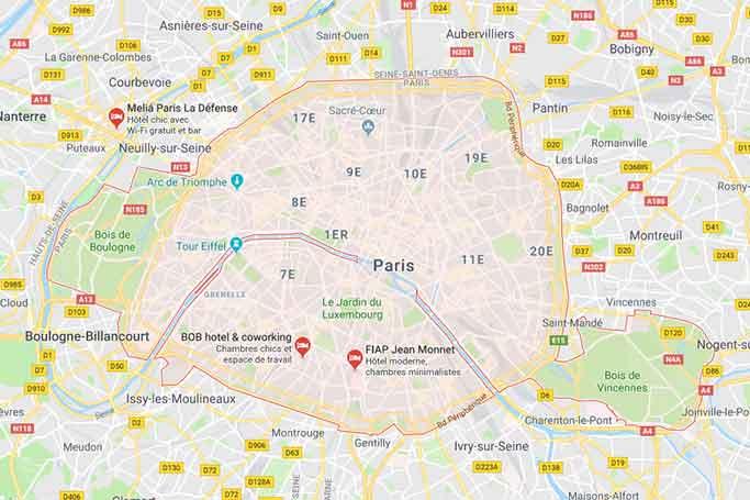 carte des villes en ile de france
